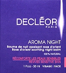 Decleor Aromessence Rose D'orient Night Balm 1oz(30ml) Sensitive Skin